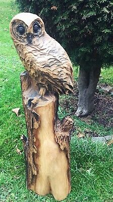 Große Eulen Figur Behandelt Aus Eiche Adler Deko Eule Garten Geschenk Geburtstag