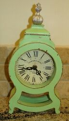 Maribel Tabletop Clock Southern Living Willow House Distressed Green 41464 $40