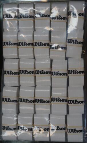NEW Wilson Pro Overgrip - 25 Pack Tennis Grip Tape Roger Federer RF WHITE