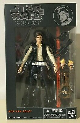 Star Wars Black Series HAN SOLO #08 Orange Line Brand New