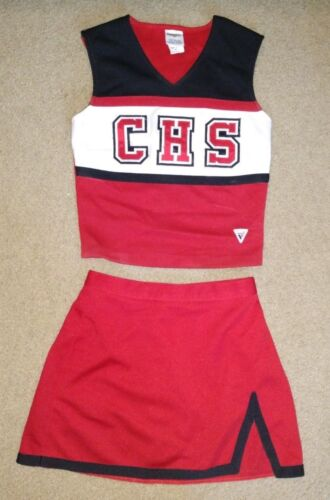 Real Authentic Central High School CHS Red Cheerleading Uniform Varsity Cheer