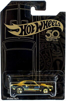 Hot Wheels 2018 50th Anniversary Black & Gold Series '67 Camaro Chase 1/64 Scale