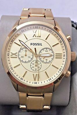 Fossil Herrenuhr Gold-Ton Zifferblatt Edelstahl Chronograph bq1128ie NEU OVP