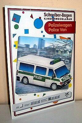 + KARTONMODELLBAU  Polizeiwagen  SCHREIBER-BOGEN 654