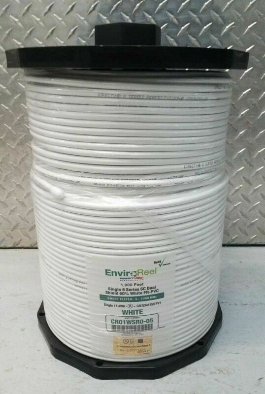 Directv Enviroreel Cr01wsr0-05 White 1000ft Rg6 Single Solid Copper Cable New