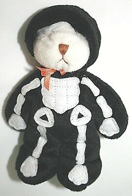 Cute Decorations For Halloween (1999 Super Cute Ganz Bear Dressed as a Skeleton for Halloween--5)