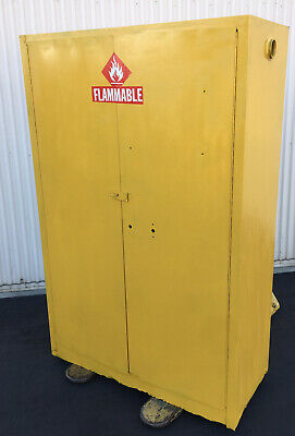 Yellow Safety Cabinet Flammable Liquids Storage Cabinet 45 Gallons Storage