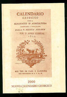 NUOVO CALENDARIO GEORGICO 2000 LA PIEMONTESE ASSICURAZIONI 2000 AGRICOLTURA