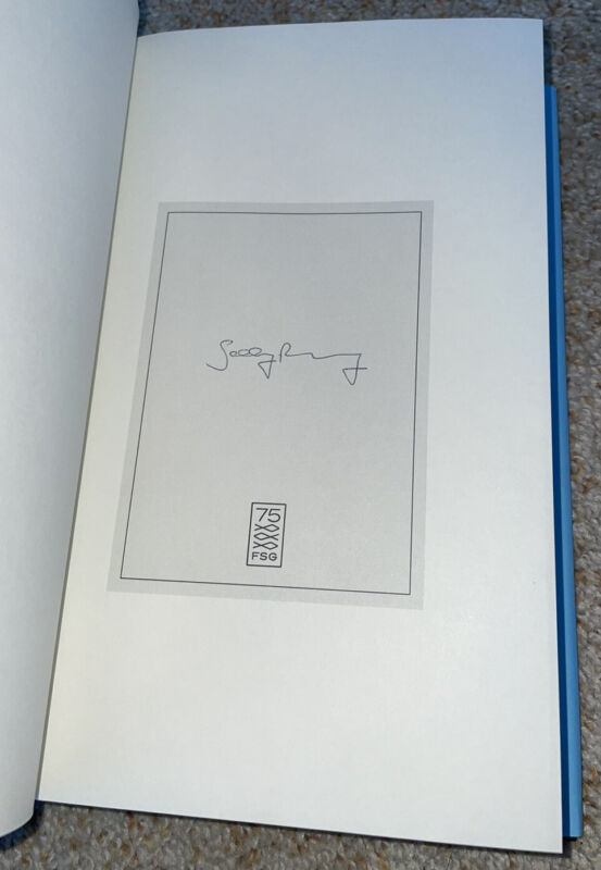 Sally Rooney signed book Beautiful World Where Are You
