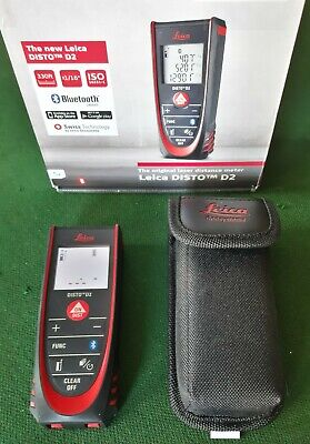Leica Disto D2 Laser Distance Meter Bluetooth 100m With Carrying Case - Working