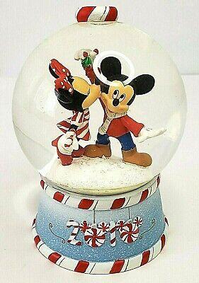 Disney Mickey Minnie Mouse Mini Snowglobe Christmas 2010 Xmas Holiday Winter