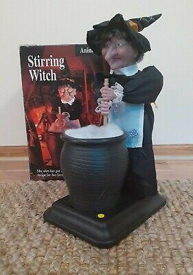 Gemmy Halloween Factory Stirring Witch - Animated - Talks - Stirs - Works Great