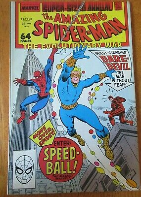 The Amazing Spider-Man Super Sized Annual #22 Marvel 1988 1st Speed Ball * Read*