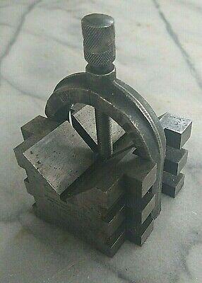 Brown Sharpe No. 750-b Machinist Toolmaker V Block Clamp Usa
