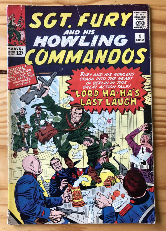 Sgt. Fury and His Howling Commandos 4! Stan Lee & Jack Kirby! See Pictures