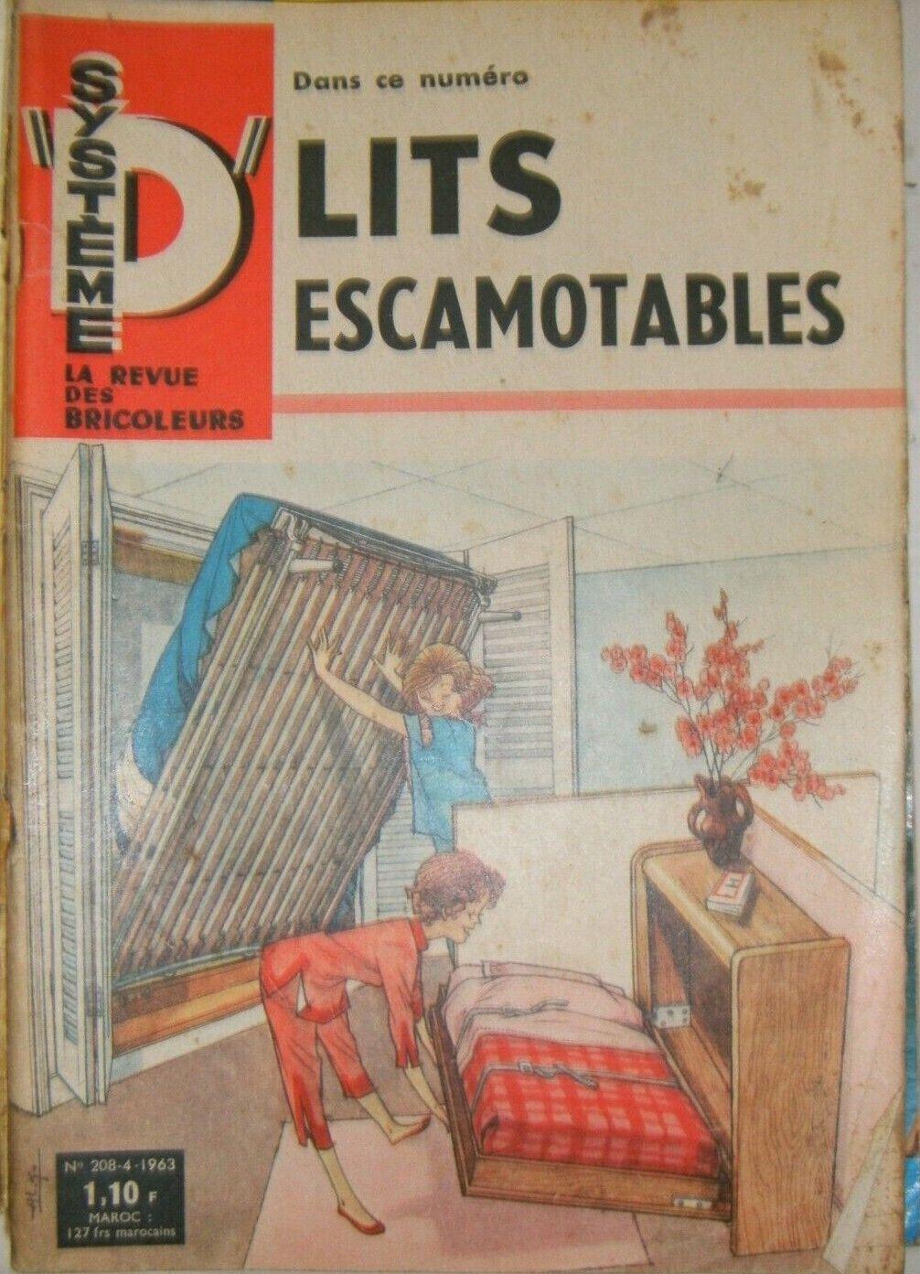 Système d n° 208 1963 diy bricolage récup lits escamotables volière meuble radio