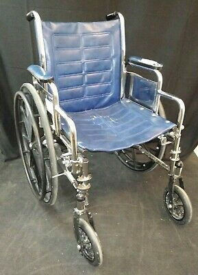 - Invacare Tracer Sx Wheelchair / Used / Arm Rests / Midnight Blue / Vinyl
