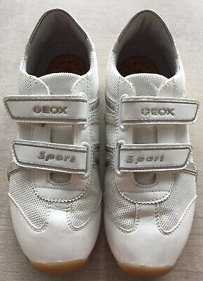 Geox Sportschuhe für Kinder | Größe 34, weißsilber, Wie neu