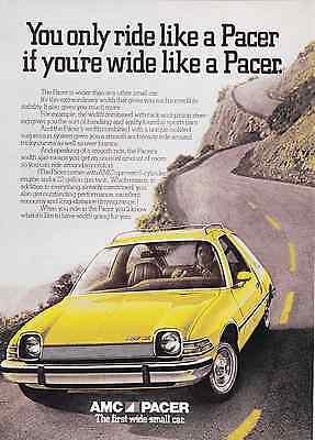 1975 AMC PACER  ~  NICE ORIGINAL 2-PAGE PRINT AD
