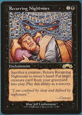 Recurring Nightmare Exodus NM Black Rare MAGIC MTG CARD (ID# 149542) ABUGames