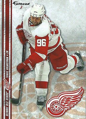 Tomas Holmstrom Detroit Red Wings - TOMAS HOLMSTROM FATHEAD TRADEABLES DETROIT RED WINGS JOE LOUIS SGA 2-17-12 MULE