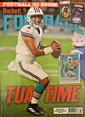 New February 2021 Beckett Football Card Price Guide Magazine With Tua Tagovailoa