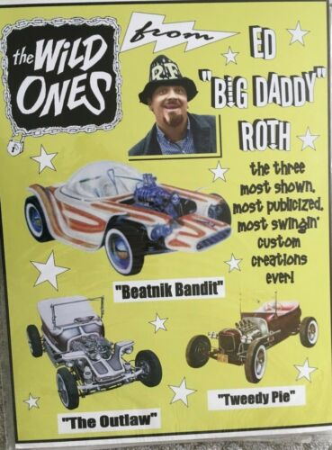 """Ed Big Daddy Roth Wild Ones 24""""X32"""" Poster."""