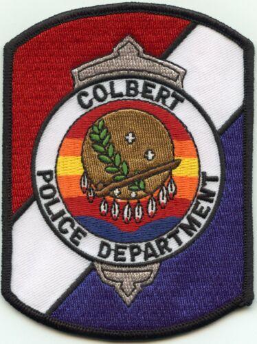COLBERT OKLAHOMA OK Very Colorful POLICE PATCH