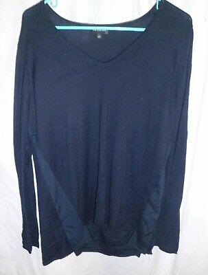 The Limited Women's 3/4 Length Knit Sweater Top Hides Belly Bulge Size L -