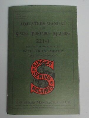 5 pack  Adjusters Manual Singer Featherweight 221 Sewing Machine Dealer Booklets
