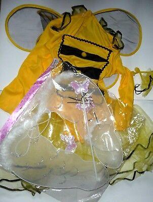 Bienen Kostüm Flügeln Kinder Karneval Fasching & Feen Flügel Zauberstab - Bienen Kostüm Kinder
