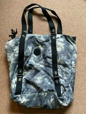 Kipling, black and grey stone effect, tote bag