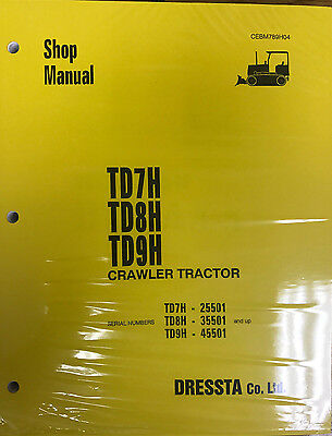 Komatsu Td7h  Td8h  Td9h Crawler Tractor Service Shop Repair Manual