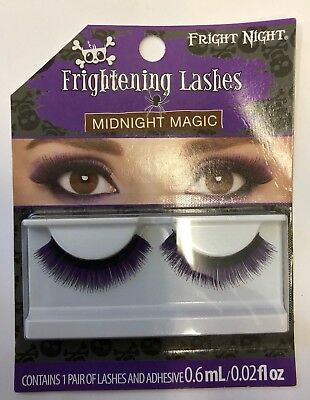 1 pair False eye lashes Midnight Magic Frightening Lashes Halloween dress up