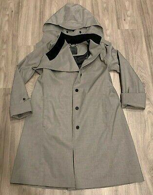 Norwegian Rain Bergen Women's Coat Jacket Gray Single Breasted Medium Mid Grey
