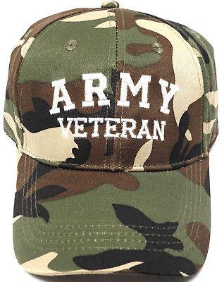 U.S. ARMY VETERAN Cap/Hat CAMOFLAUGE Military FREE Shipping