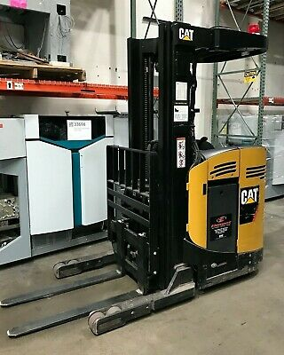 Caterpillar Nr3000-24v Stand Up Forklift Compact 3000lbs 3257 Hrs Nice