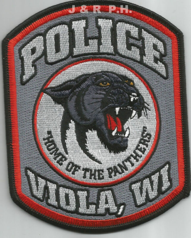 """Viola, WI  """"Home of Panthers""""  (4"""" x 5"""" size)   shoulder police patch (fire)"""