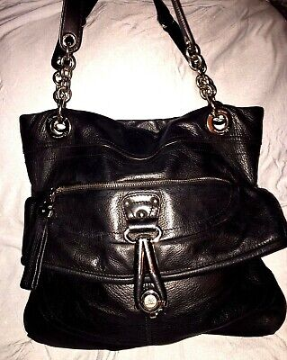 B Makowsky Black All Leather Purse Handbag