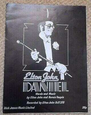 Elton John   Daniel   Vintage Sheet Music
