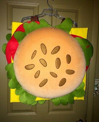 Pottery Barn Kids Cheeseburger Halloween Costume Child Size 7-8   Hamburger 1PC