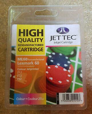 Jet Tec L60 Quality Remanufactured Lexmark No60 17G0060 Colour Inkjet Cartridge