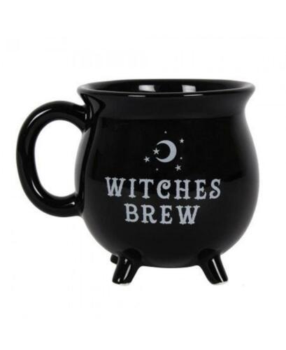 WITCHES BREW CAULDRON MUG BLACK TEA COFFEE CUP SOUP 3051