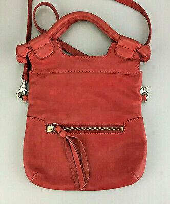 - Foley + Corinna Disco City Bag Red Pink Crossbody Shoulderbag Handbag Leather