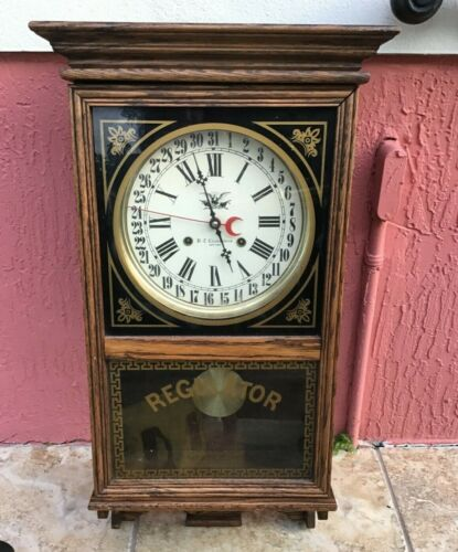 Hc Clockmakers Wall Mount Wood Regulator Clock