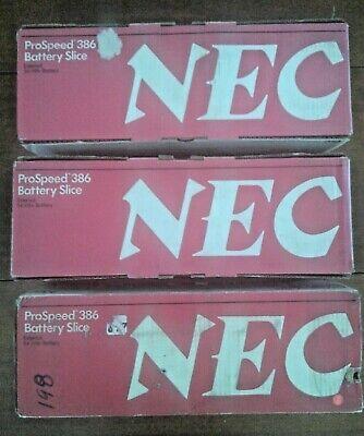 Lot of 3 Vintage NEC ProSpeed 386 Battery Slice External 54 Whr Battery PC-31-71