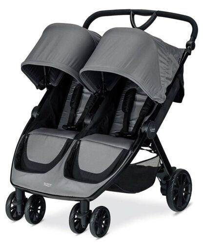 Britax B-Lively Lightweight Quick Fold Twin Baby Double Baby Dove NEW