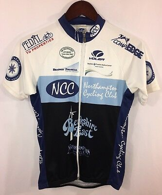 VOLER Womens Used Full Zip Short Sleeve Bike Bicycle Cycling Jersey Size S  USA a755f2f2f