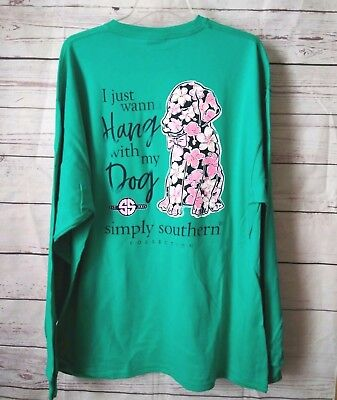 "NWT Simply Southern "" I just wanna Hang with my Dog"" Women's Sz. XXL (2XL)"