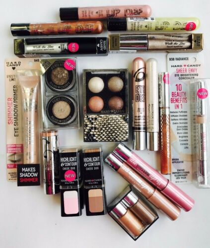 15 pc Hard Candy Makeup Lot   Eyes! Lips! Face! Nails!  NEUTRAL SHADES ONLY!